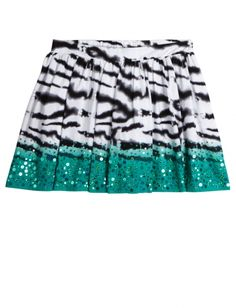An animal print and sequined skirt is totally the epitome of fun!  Click to see our favorite sale pieces from Justice!