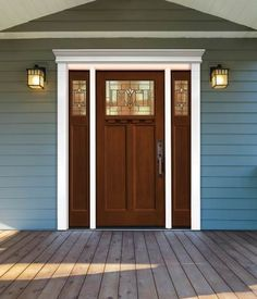 Fypon Polyurethane door surround with right and left sidelite. Costs less than wood
