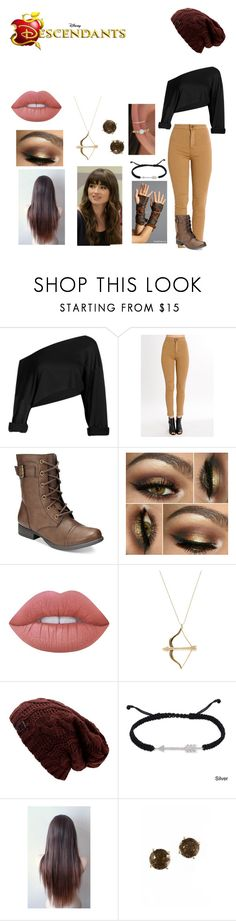 """""""Caden Pan"""" by mrsmendes2 ❤ liked on Polyvore featuring American Rag Cie, Lime Crime, Sydney Evan, Finesque, Disney and Effy Jewelry"""