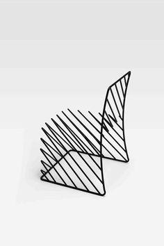 Oki Sato Thin Black Lines Chair (2) by Nendo