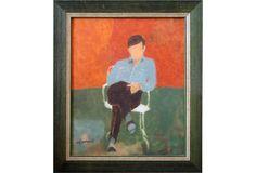 Claude Hemeret Oil / Canvas Seated Male Figure