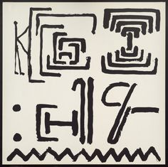 """A.R. Penck (Ralf Winkler). Untitled from the portfolio Ur End Standart. 1972. One from a portfolio of fifteen screenprints. composition (irreg.): 26 3/16 x 26 1/8"""" (66.5 x 66.4 cm); sheet: 27 1/2 x 27 1/2"""" (69.8 x 69.9 cm). Mrs. Gilbert W. Chapman Fund. 1089.1979.10. © 2016 A.R. Penck. Drawings and Prints"""