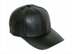Shop La Femme Rebelle Clothing's Genuine 6 Panel Leather Baseball Cap. Fits comfortably with adjustable Velcro strap. One size fits all. Black  Pair with Femme Baseball or Football Jersey of Dress