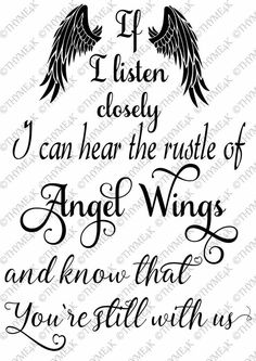 "Digital Design ""If I listen closely … Angel Wings …"" Instant Downloa …"