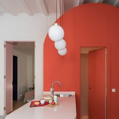 Barcelona apartment renovation is all about bespoke built-ins and whimsical colors - Curbed Design Apartment, Apartment Renovation, Bedroom Apartment, Barcelona Apartment, Light Hardwood Floors, Plywood Floors, Diy Design, Design Ideas, Live Coral