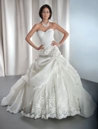 2014 Niedlich Sweetheart Appliques Lace Organza Ruched Ball Gown Style Wedding Dress Bridal Gown Custom Made Demetrios 4313 Wedding Dresses Photos, Wedding Dress Styles, Bridal Dresses, Wedding Gowns, Lace Wedding, Dream Wedding, Bridesmaid Dresses, Ball Dresses, Ball Gowns