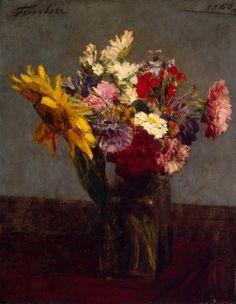 Flowers, Henri Fantin-Latour. French (1836 - 1904)