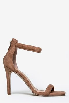 ae88889126a6 Ankle Strap High Heels - Bare Feet Shoes - 10 Suede Sandals