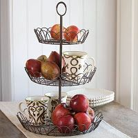 French Wire Tiered Stand -- love that it comes completely apart and you can use just two tiers (the other can hold a pie plate or stack of paper plates)     $54.96    http://suzannejackson.willowhouse.com