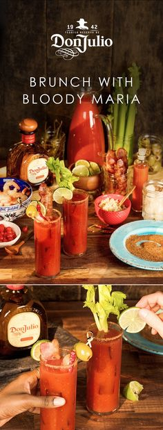 Sometimes, all you need is Don Julio tequila and a couple of neighbors to start the year right. A full Bloody María garnish bar doesn't hurt. Add 1 ½ OZ of Don Julio Reposado Tequila, 3 OZ of tomato juice and 2 dashes of hot sauce to a highball glass with ice. Add salt and pepper to taste, then add celery stick. Garnish with lime wedge, or shrimp, or bacon, or… really, anything.
