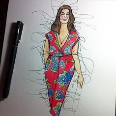 Love this! Thank you @ingrydlamas! Me in my @boohooofficial jumpsuit.  #art #boohoo