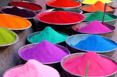 Scented powder from Holi, the annual Hindu celebration of the beginning of spring.