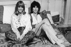 Las mujeres de los Rolling Stones y de los Beatles: Anita Pallenberg y Keith Richads