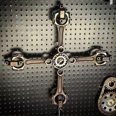 Handmade hot rod inspired wall clock made from by HotRodArtomotive
