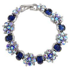 1950S Vintage Lisner Aurora Borealis Bracelet