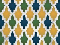 moroccan stencil pattern