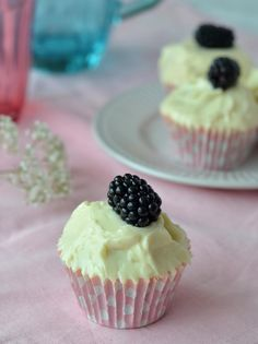 Blackberry and Elderflower Cupcakes