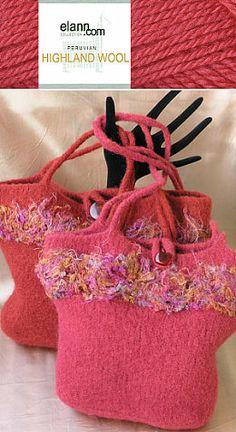 Highland Wool Felted Fancy Bags