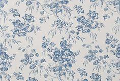 Blue and White Pierre Deux Wallpaper