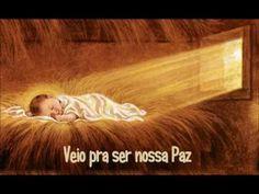 Mensagem narrada com imagens da história do nascimento de Jesus.