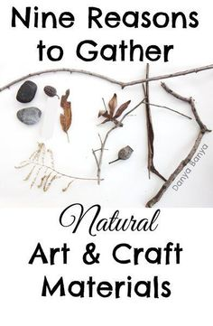 Gathering natural art and craft materials like leaves, flowers, sticks, stones and other items from nature from around your own neighbourhood with kids has so many benefits - being free is just the first one....