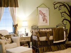 Cake Boss, Buddy Valastro and his wife Lisa decorate a gender neutral nursery in a safari them.