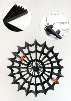 Halloween Decor. Decoration. Spider Web :: Paper Web tutorial.