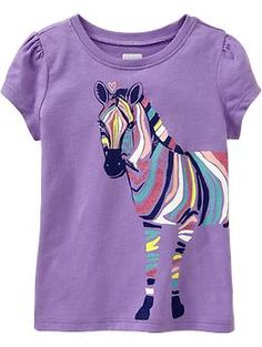 Graphic Tees for Baby | Old Navy Lucky Lilac {zebra}  2T