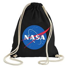 356f2c4df906d ShirtWorld - NASA Logo - Gym Bag Schwarz  nasa  turnbeutel  hipster   beutelrucksack