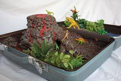 DIY dinosaur world for kiddos made in a suitcase! Complete tutorial on atsecondstreet.blogspot.com