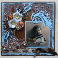 Marianne Design Challenge Blog Vintage Scrapbook, Baby Scrapbook, Scrapbook Pages, 3d Cards, Heritage Scrapbooking, Scrapbooking Layouts, Vintage Shabby Chic, Shabby Chic Style, Spring Summer