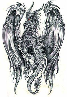 That would be an interesting tattoo #dragon #tattoos #tattoo