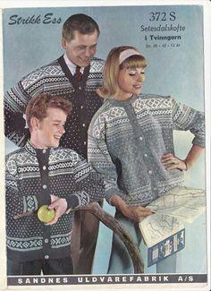Setesdalskofte 372 Norwegian Knitting, Vintage Knitting, Jumpers, Bunt, Norway, Knitwear, Cardigans, Sweaters, Men Casual