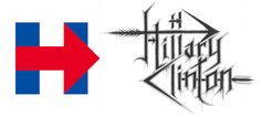 If the Presidential Candidates Had Black Metal Logos… Brutal chakal, diabolical satanic president