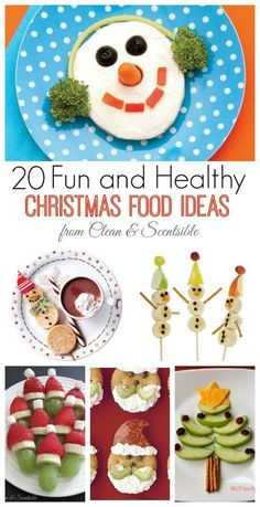 Fun and healthy Christmas food ideas for kids.  Great ways to balance out all of those sweets!