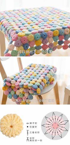 Puff Stitch Crochet Blanket