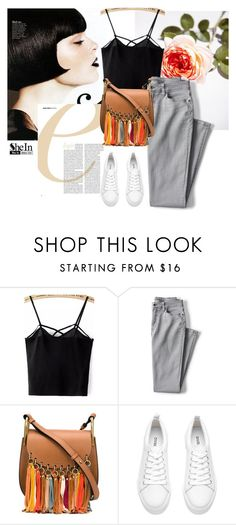 """""""The flower"""" by sweetfashionistaofdetroit ❤ liked on Polyvore featuring Lands' End and Chloé"""