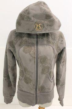 Lululemon Womens Zip Front Hooded Jacket Floral Print Sz 8 | eBay  LOVE the print on this Lululemon jacket