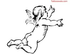 Baby Angel Outline Tattoo A collection of popular and best tattoo ...