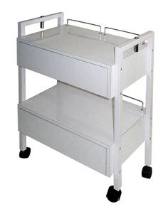 Spa Masters Esthetician Trolley One of our most popular for Estheticians, this attractive trolley features 2 drawers, 4 easy glide wheels, mag light holders on both sides and back guard rails to prevent items from falling off. Spa Room Ideas Estheticians, Spa Room Decor, Esthetics Room, Spa Treatment Room, Aesthetic Space, Spa Rooms, Spa Design, Salon Design, Massage Room