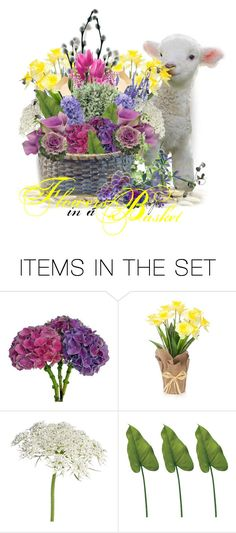 """""""Flowers in a Basket"""" by craftygeminicreation ❤ liked on Polyvore featuring art"""