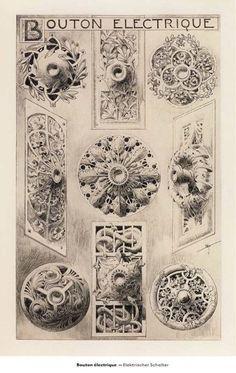 Rene Binet, Doorbell designs, Esquisses Decoratives (c. 1905)