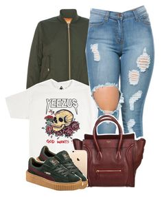 """Untitled #1178"" by princess-alexis18 ❤ liked on Polyvore featuring Blugirl, CÉLINE and Puma"