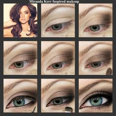 Makeup inspired by Miranda Kerr. Beauty Makeup, Eye Makeup, Hair Makeup, Hair Beauty, Beauty Style, Creative Makeup, Simple Makeup, Eyeliner Application, Matt Brown