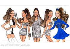 Ariana Grande illustrations over the time! Well it seems I love drawing her & herself a lot
