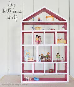 "That's My Letter: ""D"" is for Dollhouse Shelf, diy dollhouse shelf"