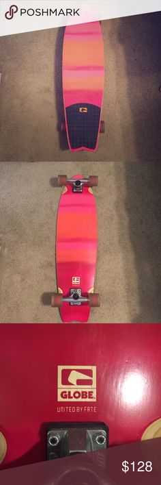 Globe ombré sunset colored longboard Globe longboard. Beautiful ombré sunset colors. Only used a few times. Great condition. Less expensive on Mercari! Globe Other