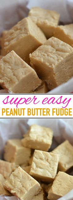 Best and Easiest Peanut Butter Fudge Delicious and easy peanut butter fudge recipe, passed down for generations!Delicious and easy peanut butter fudge recipe, passed down for generations! Peanut Butter Recipes, Fudge Recipes, Candy Recipes, Easy Peanut Butter Fudge, Lemon Fudge Recipe, Peanut Butter Candy, Baking Recipes, Dessert Simple, Dessert Party
