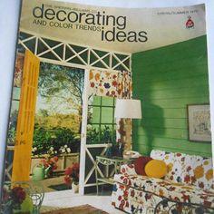 Vintage Summer 1970 Sherwin-Williams Co Decorating and Color #vintage #summer #sherwin #williams #decorating #trends #retro #70s #magazine #guide #collectables #retro #decor #ephemera