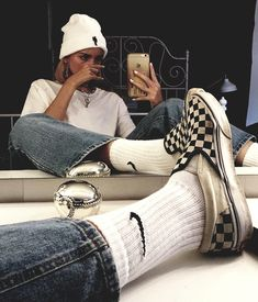 𝕱 𝖎 𝖔 𝖓 𝖆 on - Style - Skater Girls Vintage Outfits, Retro Outfits, Grunge Outfits, Trendy Outfits, Hipster Outfits, Tomboy Outfits, Urban Outfits, Easy Outfits, Scene Outfits